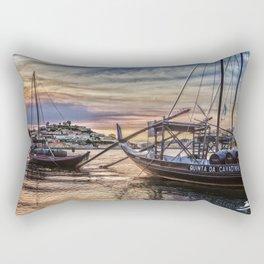 A sunset with a Port Glass Rectangular Pillow