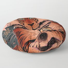 Eye of the tiger Floor Pillow