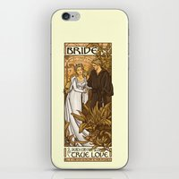 hallion iPhone & iPod Skins featuring Bride by Karen Hallion Illustrations