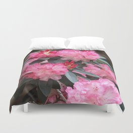 Dreamy Pink Rhododendrons Duvet Cover