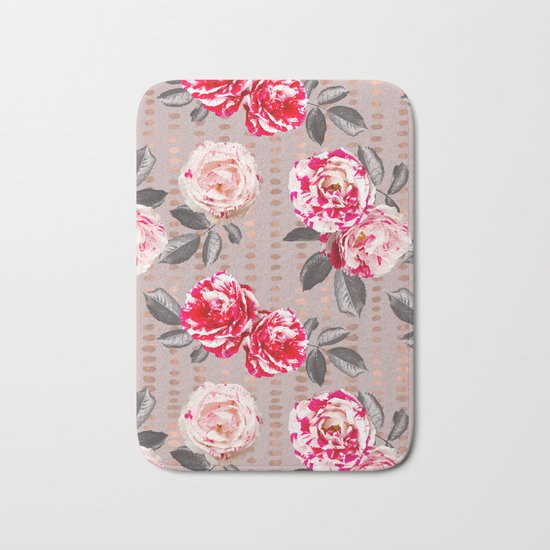 Rose Garden Polka Dots Bath Mat