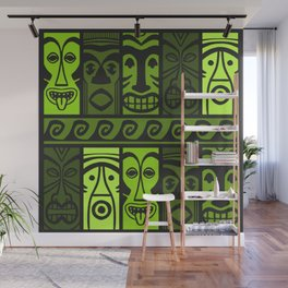 Palm Green Tikis! Wall Mural