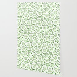 Cucumber slices pattern design Wallpaper