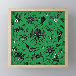Cosmic Horror Critters Framed Mini Art Print