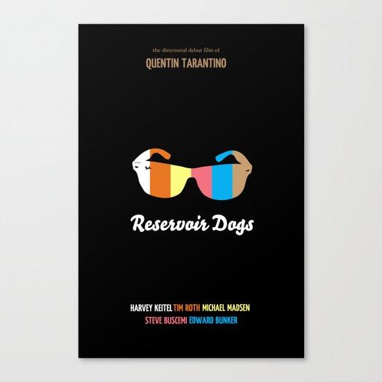 Minimal Reservoir Dogs Poster Canvas Print