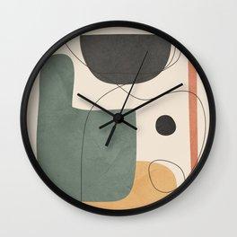 Abstract Minimal Shapes 25 Wall Clock