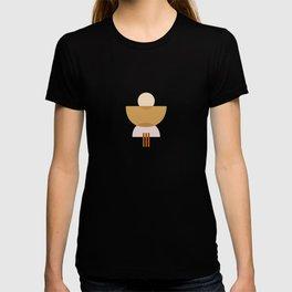Amber Abstract Half Moon 3 T-shirt