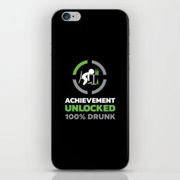 Achievement Unlocked - 100% Drunk iPhone Skin