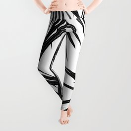 Black Palm Leaves Dream #1 #tropical #decor #art #society6 Leggings