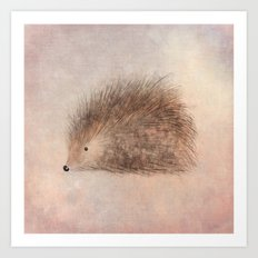 Hattie Hedgehog Art Print