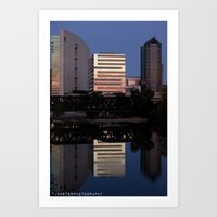 City Reflect Art Print