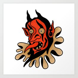 Face your demons. Art Print