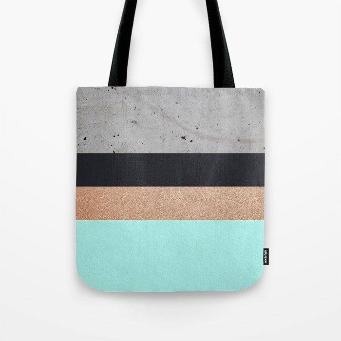 Abstract Turquoise Pattern Tote Bag