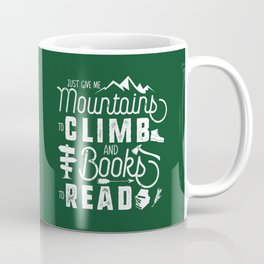 Moutnains & Books - Inverse Coffee Mug