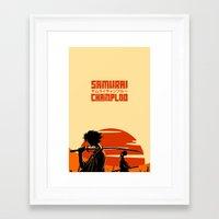 samurai champloo Framed Art Prints featuring Sunrise - Samurai Champloo by rawjaat