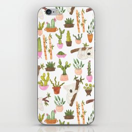 watercolor koala bears hanging out in their cactus succi garden iPhone Skin