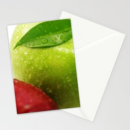 Fresh red and Green Appel in contrasts Stationery Cards