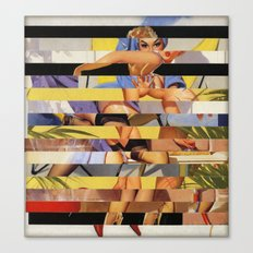 Glitch Pin-Up Redux: Courtney Canvas Print