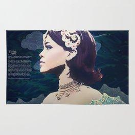 Rihanna as Japanese Deity Triptych (Tsukuyomi) Rug
