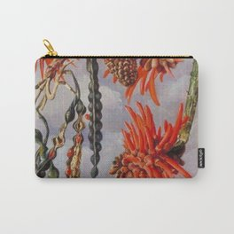 Flowering Red Coral Tree Tropical Flowers still life painting Carry-All Pouch