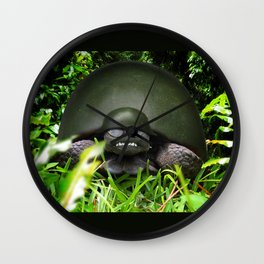 Slow Commando - Army Turtle Wall Clock