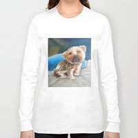 yorkie Long Sleeve T-shirts featuring Yogi the Yorkie by Steve James