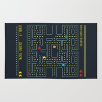 pacman Area & Throw Rugs featuring Pacman by Virbia