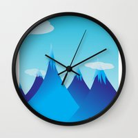 cycle Wall Clocks featuring Cycle by kylecschaeffer