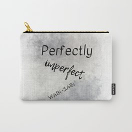 Perfectly Imperfect - Wabi-Sabi (black, grey) Carry-All Pouch