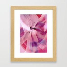 Pink Flower Abstract 2 Framed Art Print