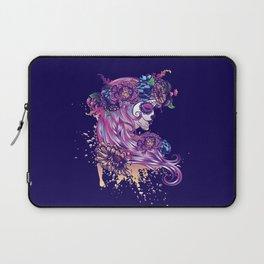 Purple sugar skull Laptop Sleeve