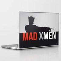 mad men Laptop & iPad Skins featuring MAD X MEN by Alain Bossuyt
