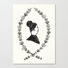 Lady Lapel Canvas Print