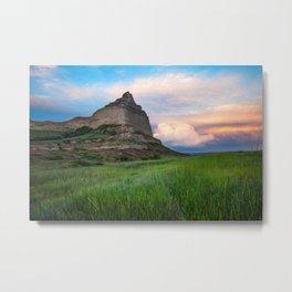 Scottsbluff - Landscape in Evening Light in Western Nebraska Metal Print