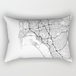 Minimal City Maps - Map Of San Diego, California, United States Rectangular Pillow