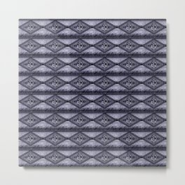 Gray Diamond Metal Print