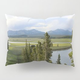 Yellowstone River Valley View Pillow Sham