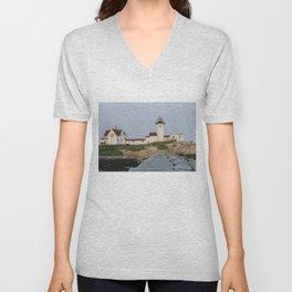 Eastern Point Lighthouse Aug2017 Unisex V-Neck