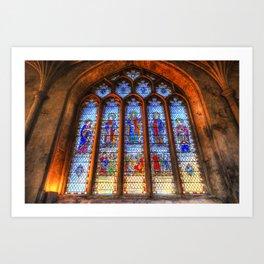 Bath Abbey Stained Glass Window Art Print