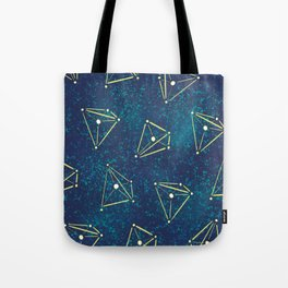 Tetrahedral Molecular Geometry Constellation Art Tote Bag