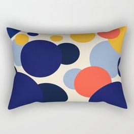 Midnight lemon & orange Rectangular Pillow
