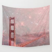 caleb troy Wall Tapestries featuring Stardust Covering San Francisco by Bianca Green