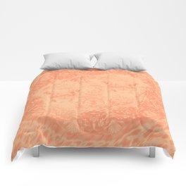 Ghostly alpacas with mandala in peach echo Comforters