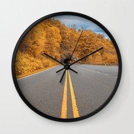 Shenandoah Skyline Drive - Autumn Gold Wall Clock