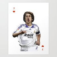 real madrid Art Prints featuring Raul Madrid by Dano77