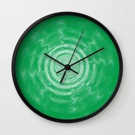 Ripples_Green Wall Clock