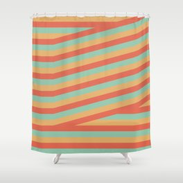 Summer stripes part 1 #eclecticart Shower Curtain