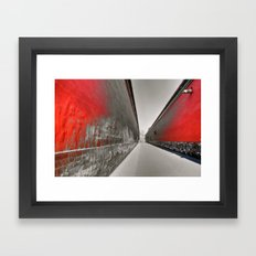 walkway inside of the Forbidden City Framed Art Print