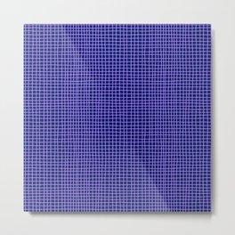 Purple Grid Metal Print