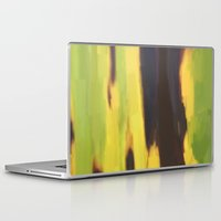 banana leaf Laptop & iPad Skins featuring Burnt Banana Leaf by Robert Morris